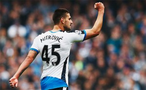 Aleksandar Mitrovic Fist In Air Goal Celebration