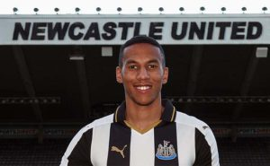 Isaac Hayden Signing St James Park Close Up