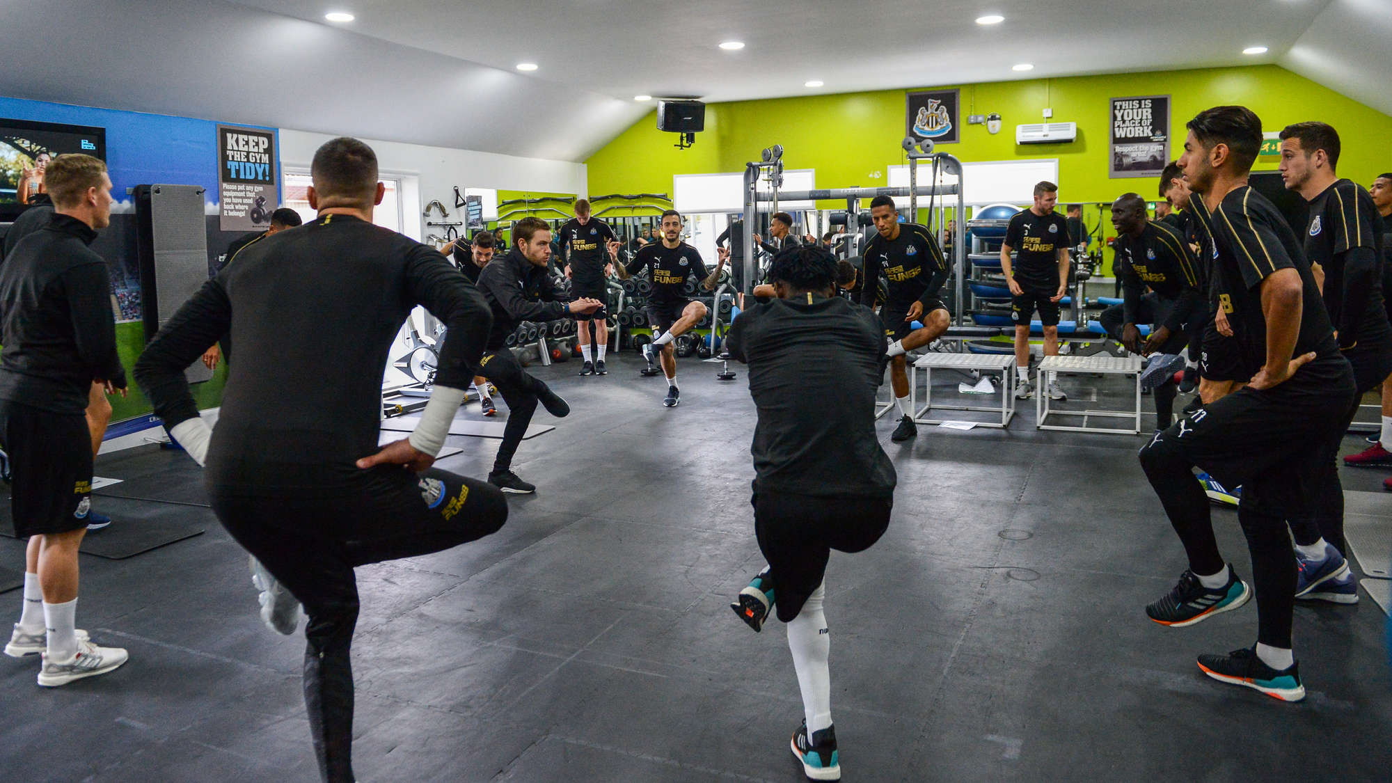 Concerning Pictures Emerge From The Club S Training Ground Has Nufc Star Suffered Setback Nufc Blog Newcastle United Blog Nufc Fixtures News And Forum