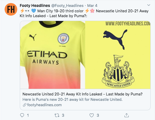 Sneak Peak Of Leaked 2020 21 Nufc Kit Emerges As Puma Deal Is Renewed See It Here Nufc Blog Newcastle United Blog